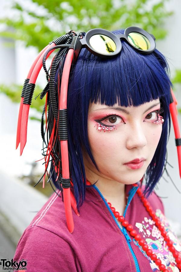 Blue Hair & Cyber Hair Falls