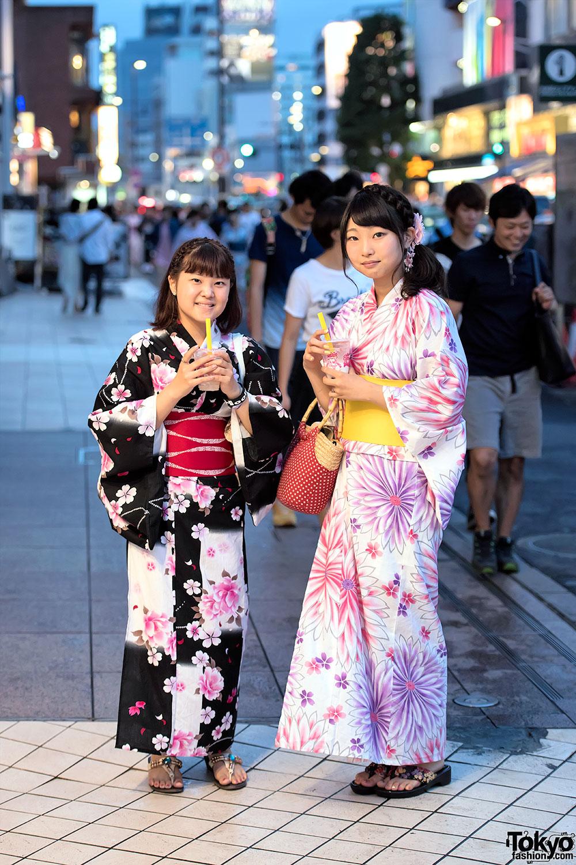 Since I Love The Kimono Style Dresses I Ve Seen On: Japanese Yukata Pictures In Harajuku At Jingu Gaien