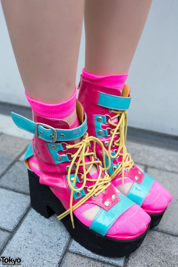 Yosuke Pink Blue Platforms