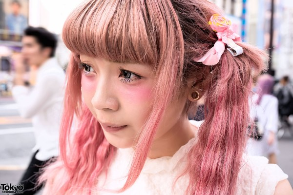 Pretty Pink Twintails Hairstyle