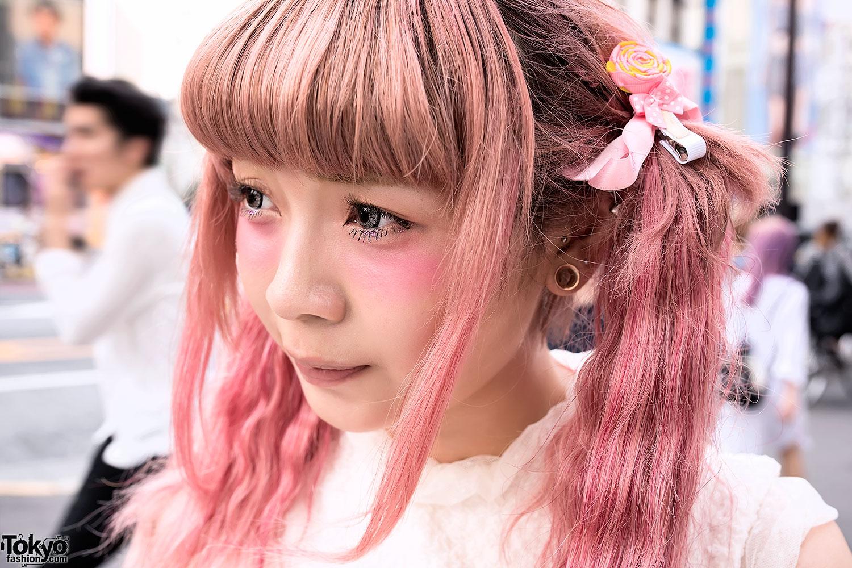 Cute Pink Hair Swankiss Corset Heart Handbag Katie