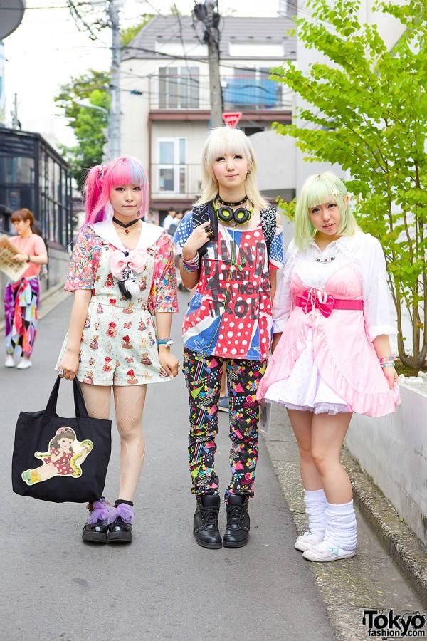 Harajuku Girls in Colorful Fashion w/ Milklim, Qiss Qill & Bunkaya Zakkaten