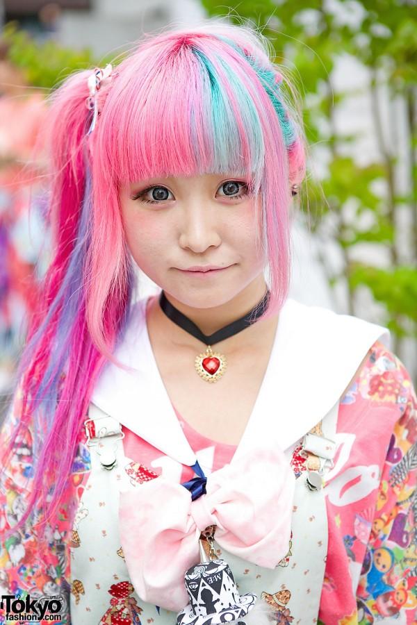 Pink & Blue Hair