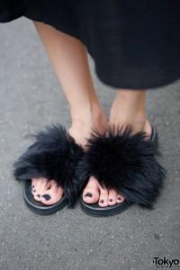 Bubbles Furry Sandals