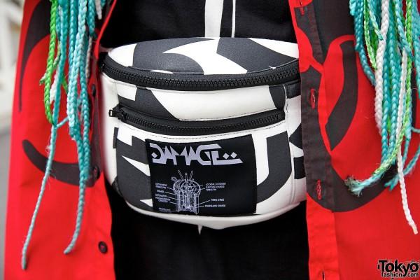 Fashion Brand Damage Shoulder Bag