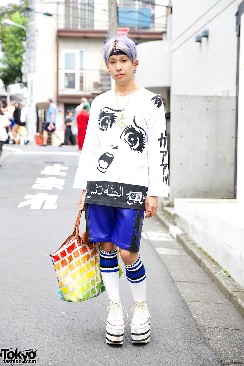 Converse High Top Sneakers & Bone Stockings – Tokyo Fashion News