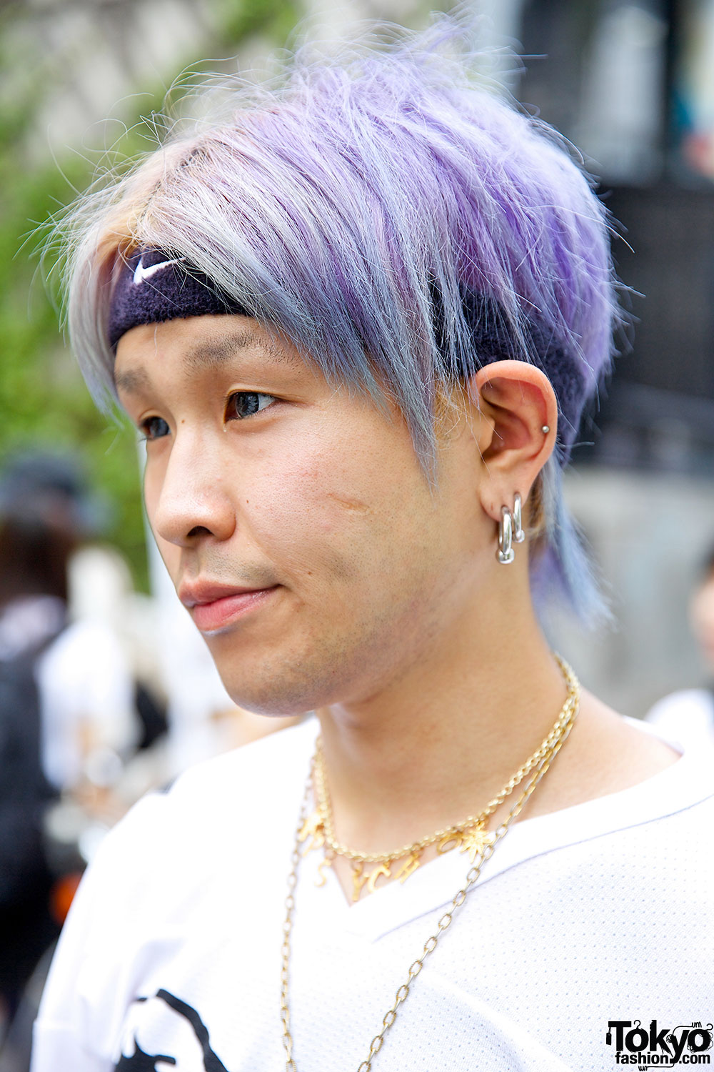 Purple Haired Harajuku Guy W Mishka Joyrich Jeremy