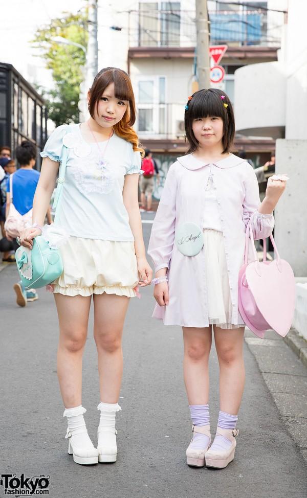 Harajuku Girls in Pastel Nile Perch w/ Angelic Pretty, Liz Lisa & Katie