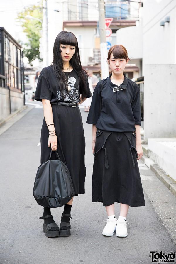 Harajuku Girls in Black Resale Fashion w/ Tokyo Sex, Bubbles & Nike