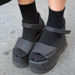 Black Platform Sandals With Socks Tokyo Fashion News