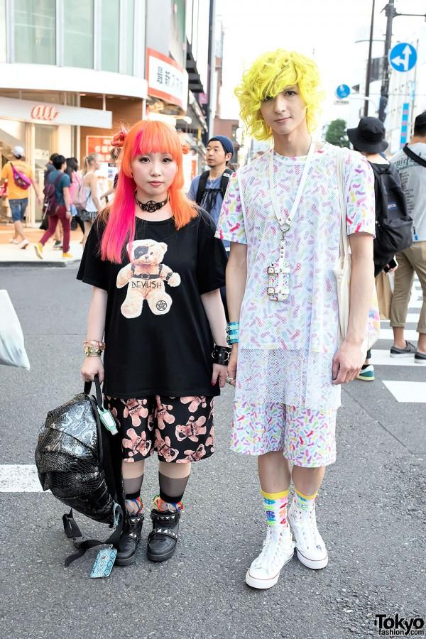 Devilish Designers in Harajuku w/ Colorful Hair, Spikes & Studs