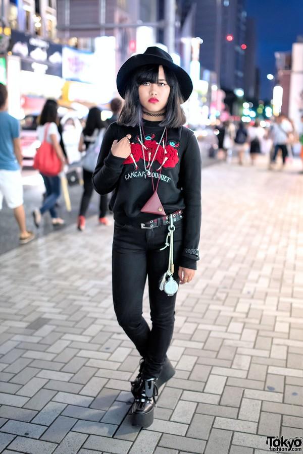 Pameo Pose Sweatshirt, Fjallraven Kanken Backpack & Tokyo Bopper Platforms