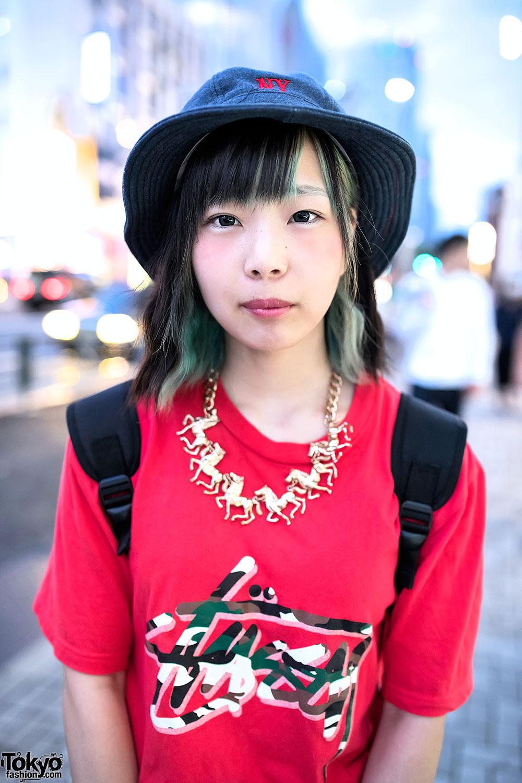 Bucket Hat Stussy Dr Martens Boots Adidas Backpack In Harajuku Tokyo Fashion