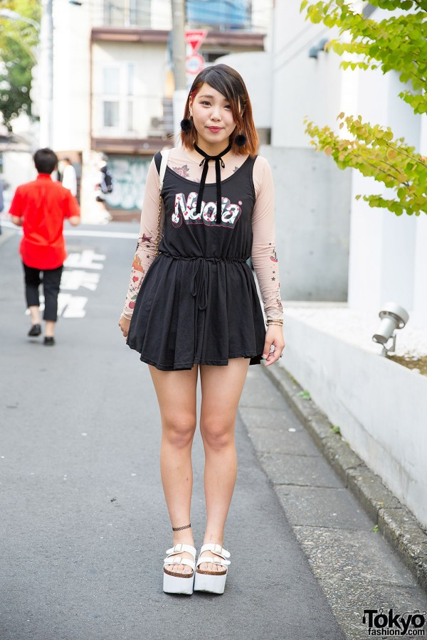 Harajuku Girl in Nadia Dress