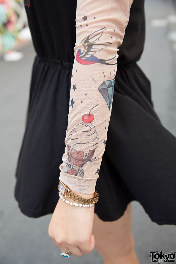 Tattoo Sleeves Top With Ice Cream