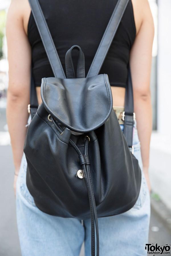 WEGO Harajuku Leather Backpack