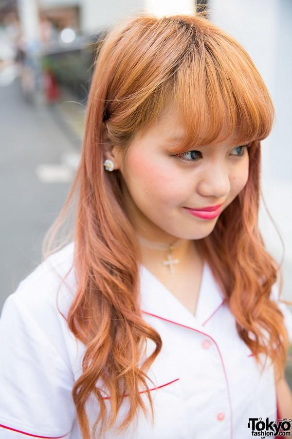 Harajuku Girl with Cross Choker