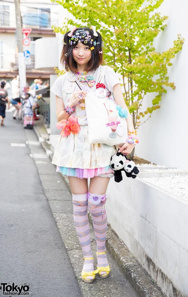 Decora Hair Clips & Colorful Fashion w/ Candy Stripper, 6%DOKIDOKI in Harajuku