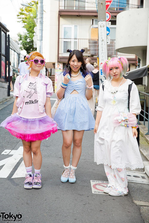 Harajuku Fairy Idols w/ Cute Hair, 6%DOKIDOKI, Milklim & Dazzlin