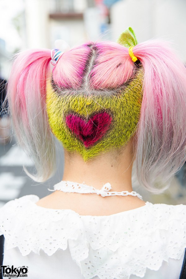 Shaved Hair With Dyed Heart