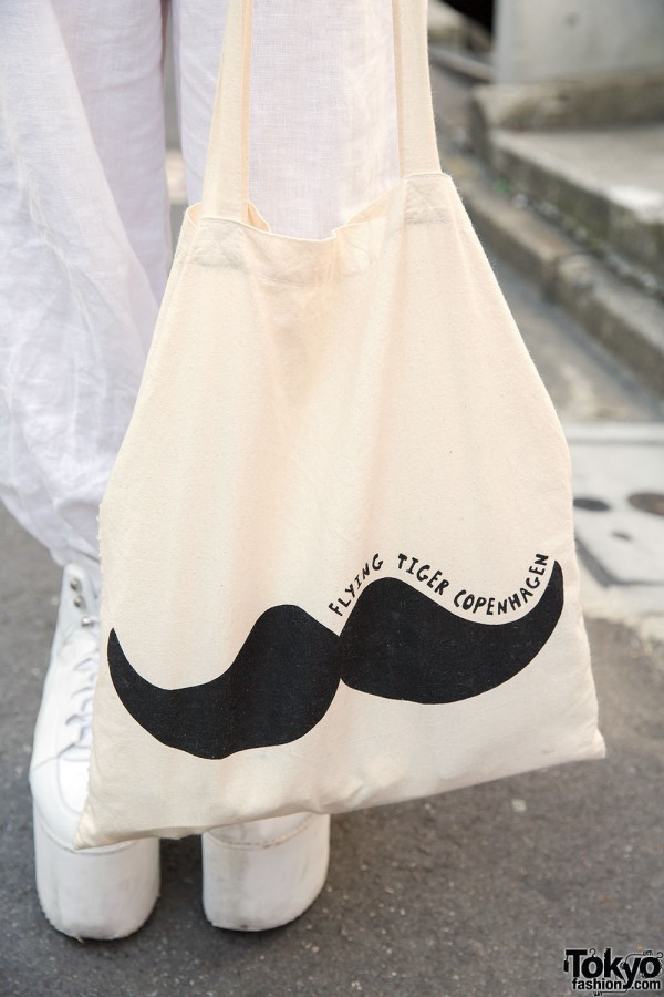 Flying Tiger Copenhagen Mustache Bag