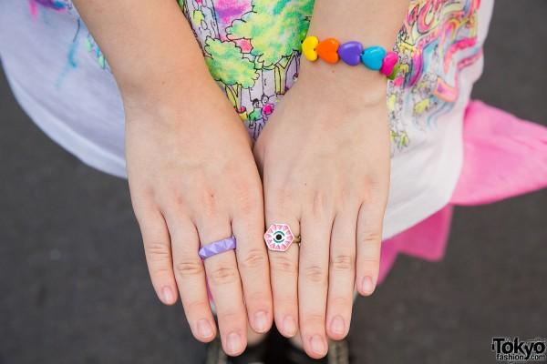 Hearts Bracelet & Rings