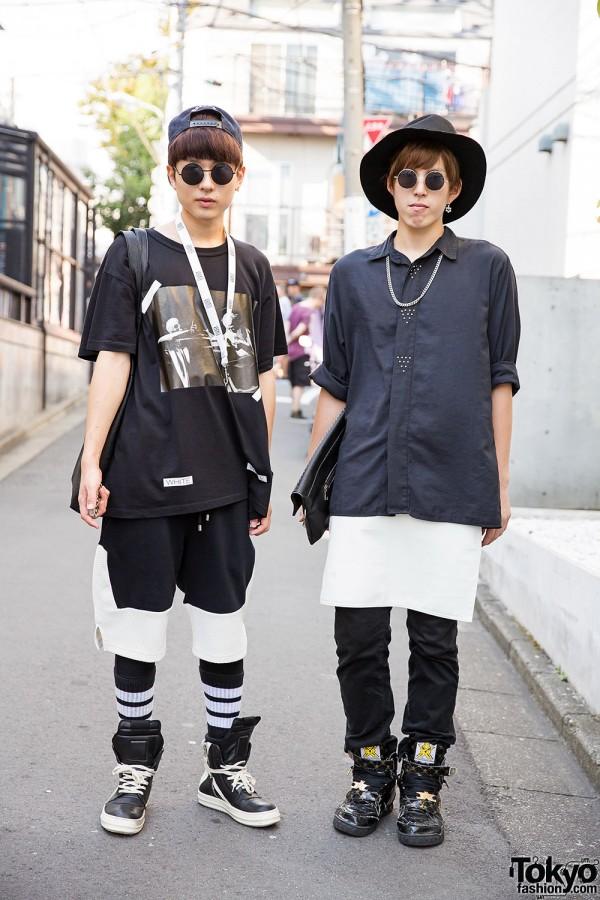 Harajuku Guys in Streetwear by Off-White, ADYN, SPX & Rick Owens