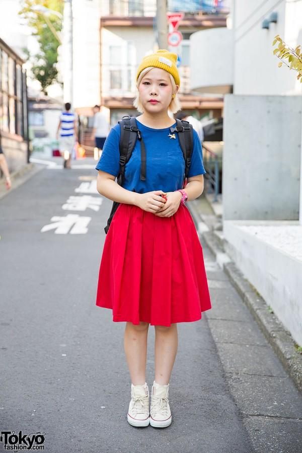 Primary Colors w/ Beams Boy, Jeans Factory, WEGO & Converse in Harajuku