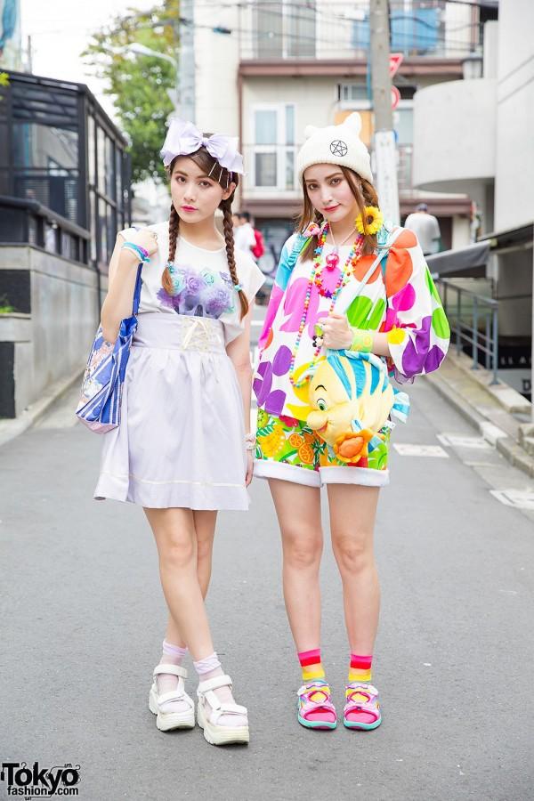 Harajuku Sisters in Colorful Disney Fashion w/ 6%DokiDoki, Angelic Pretty & WEGO