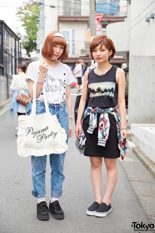 Harajuku Beauty School Students in Spinns, WEGO, Bershka & Esperanza Fashion