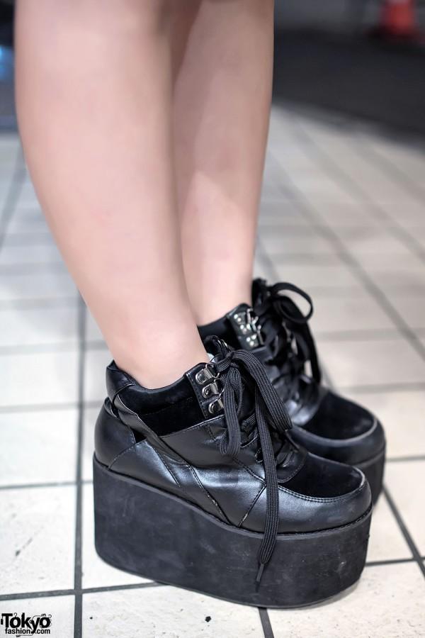 Black WEGO Platform Shoes