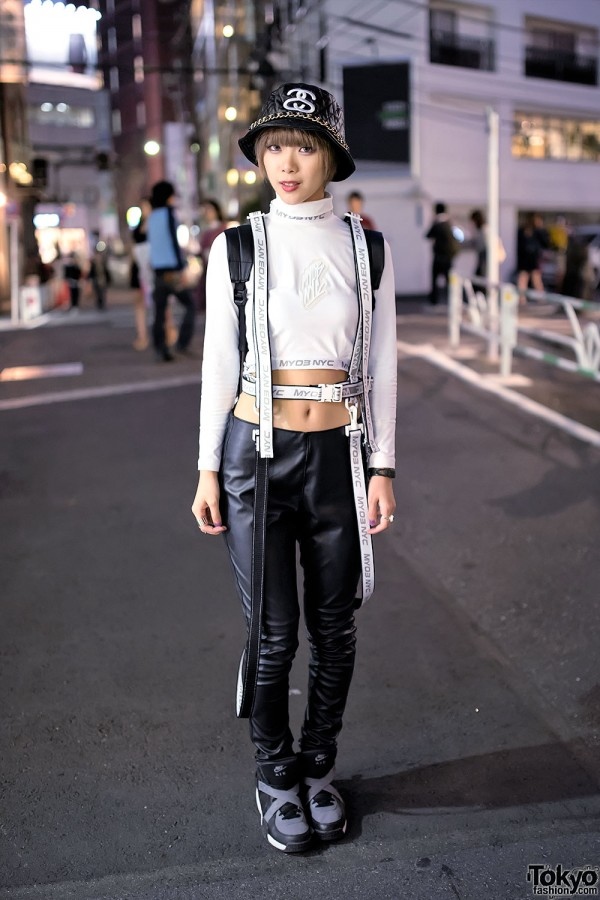 MYOB NYC Harness & Monochrome Fashion on Cat Street, Harajuku
