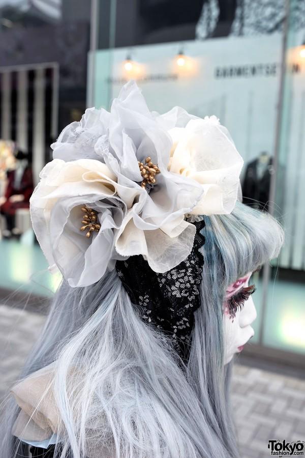 Minori's Handmade Lace Hat in Harajuku