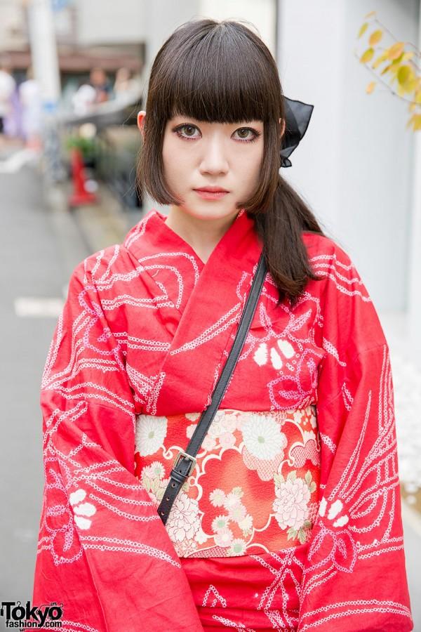 Red Japanese Yukata