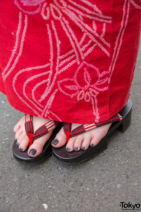 Wood Geta Sandals