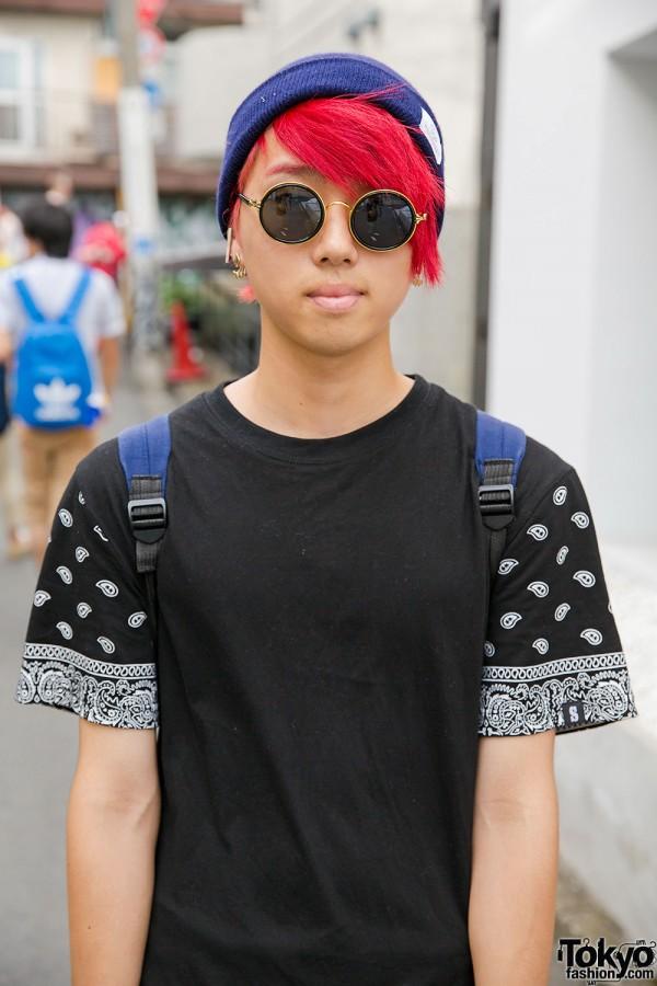Round Sunglasses & Red Hair