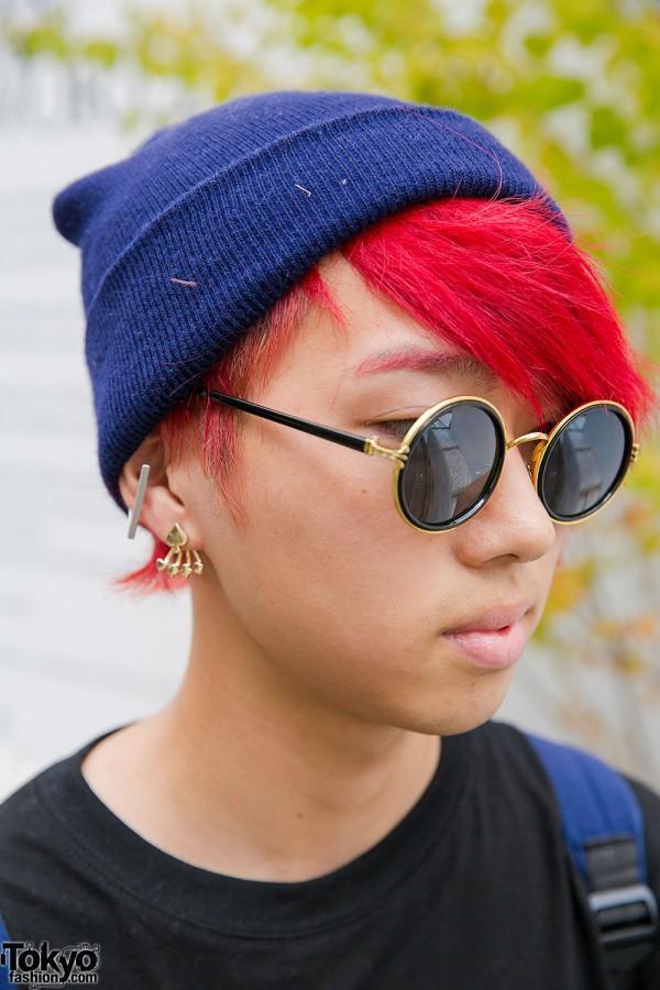 Blue Beanie & Red Hair