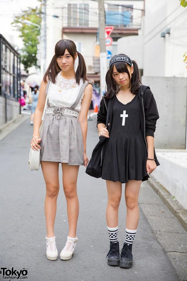 Twin Tailed Harajuku Girls w/ Cross Dress, Suspender Skirt, Liz Lisa, Candy Stripper & Nadia