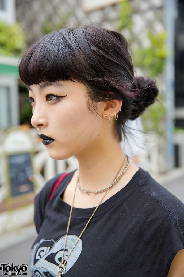 Black Lipstick, Make-up & Hair in Harajuku