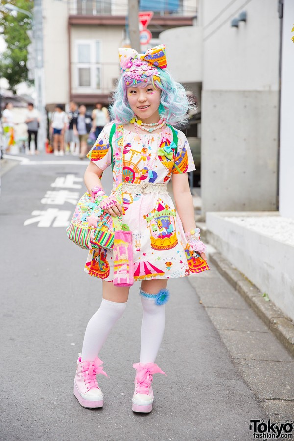 Decora in Carousel Print Dress