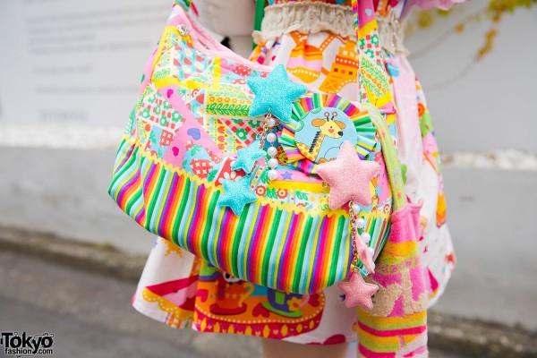 Colorful Decora Bag & 6%DOKIDOKI Shooting Stars