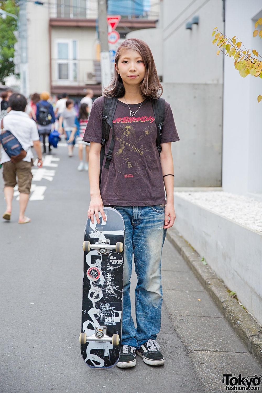Harajuku Skater Girl w/ The Birthday Tee, Undercover ...
