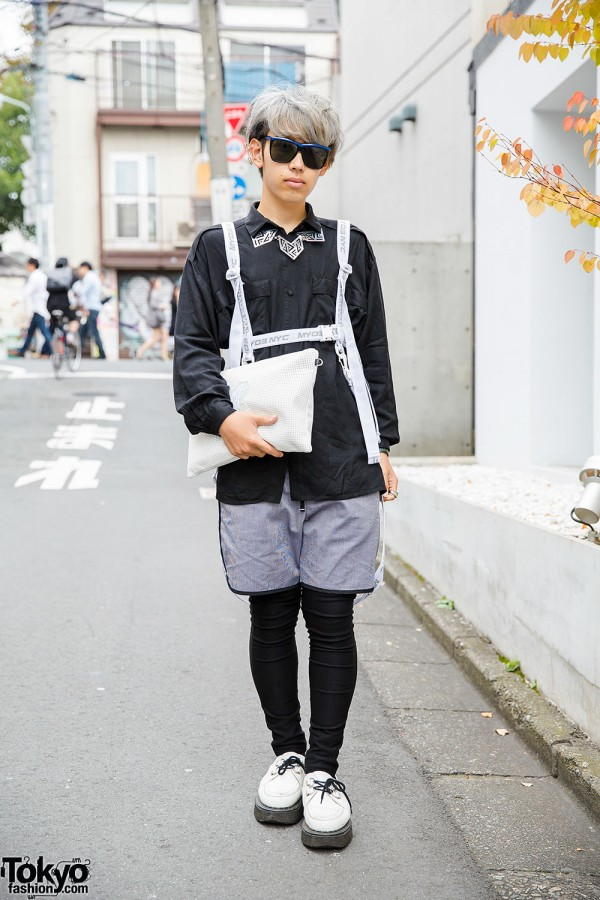 Harajuku Guy in M.Y.O.B Harness, George Cox Creepers, Kinsella & Milk Boy
