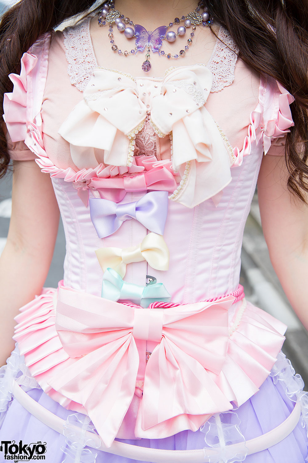 Pastel Harajuku Style w/ Lace Bird Cage Skirt, Magical ...