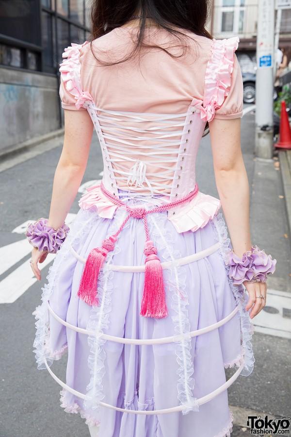 Pastel Harajuku Style w/ Lace Bird Cage Skirt, Magical ...