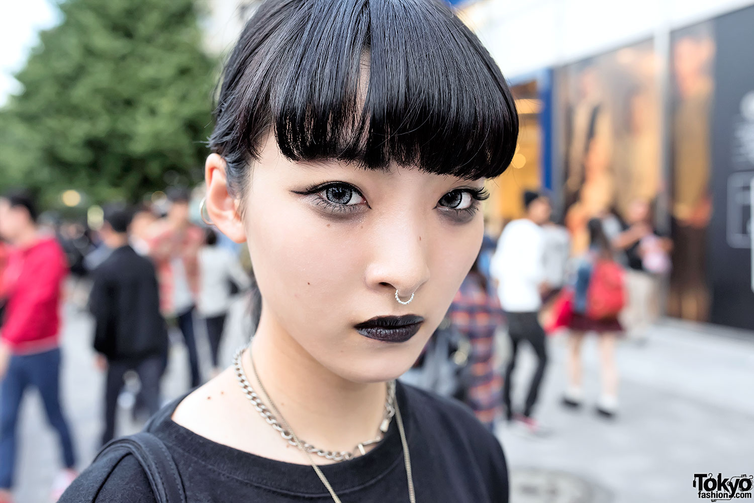 Black Lipstick Nose Ring Dark Fashion Amp Chain Creepers