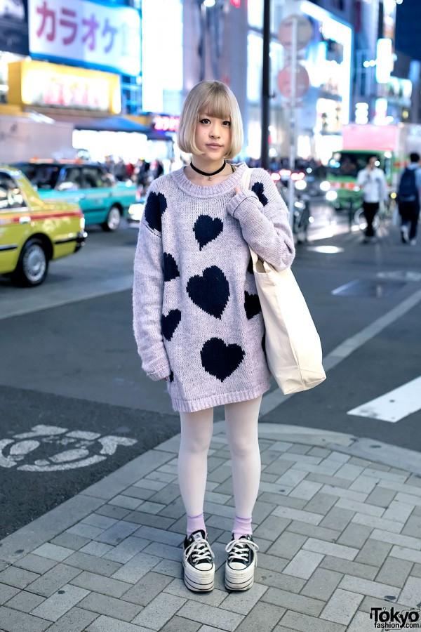 Art School Fan in Harajuku w/ Jouetie Sweater & Nadia Platform Sneakers