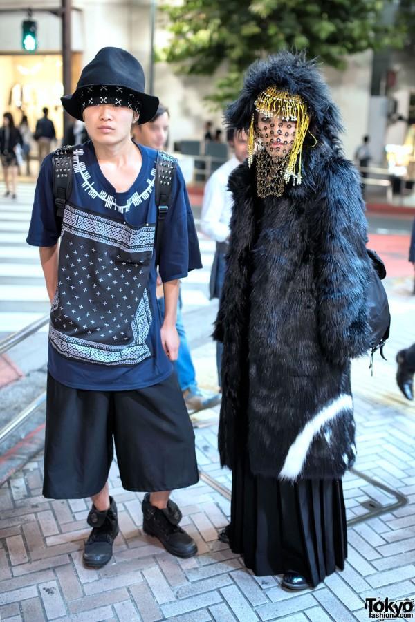 House of Malakai Chainmail Veil, HEIHEI & Elephant TRIBAL Fabrics in Tokyo