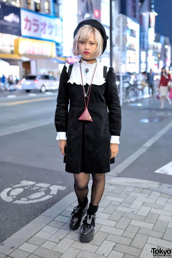 Pameo Pose Dress, Kanken Backpack & Tokyo Bopper Shoes in Harajuku