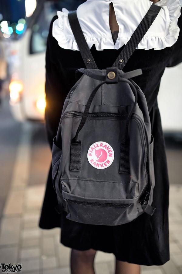 Black Kanken Backpack in Harajuku